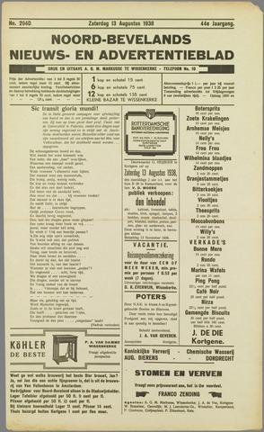 Noord-Bevelands Nieuws- en advertentieblad 1938-08-13