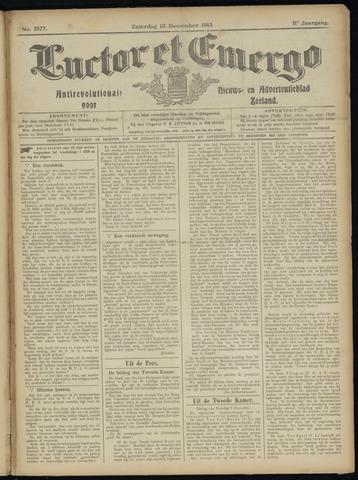 Luctor et Emergo. Antirevolutionair nieuws- en advertentieblad voor Zeeland / Zeeuwsch-Vlaanderen. Orgaan ter verspreiding van de christelijke beginselen in Zeeuwsch-Vlaanderen 1913-12-13