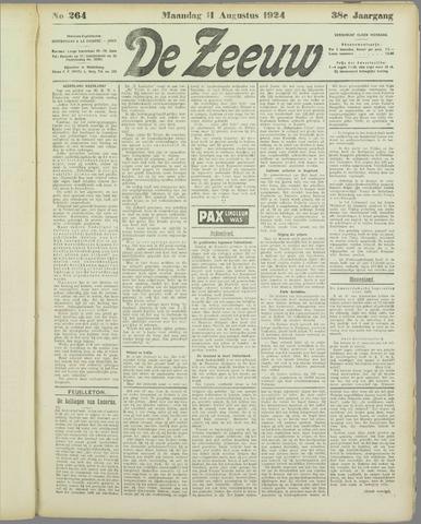 De Zeeuw. Christelijk-historisch nieuwsblad voor Zeeland 1924-08-11