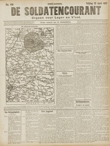 De Soldatencourant. Orgaan voor Leger en Vloot 1917-04-13