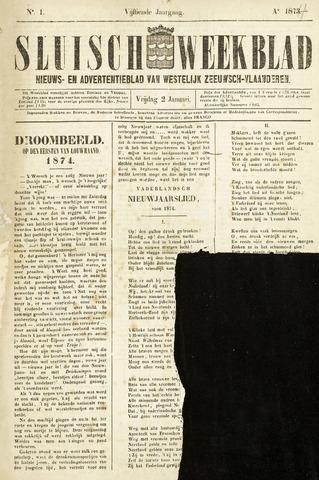 Sluisch Weekblad. Nieuws- en advertentieblad voor Westelijk Zeeuwsch-Vlaanderen 1874
