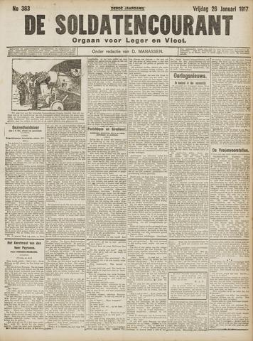 De Soldatencourant. Orgaan voor Leger en Vloot 1917-01-26