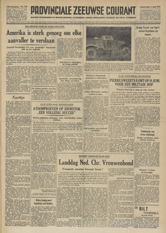 Provinciale Zeeuwse Courant 1951-06-14