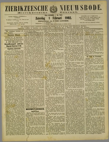 Zierikzeesche Nieuwsbode 1902-02-01