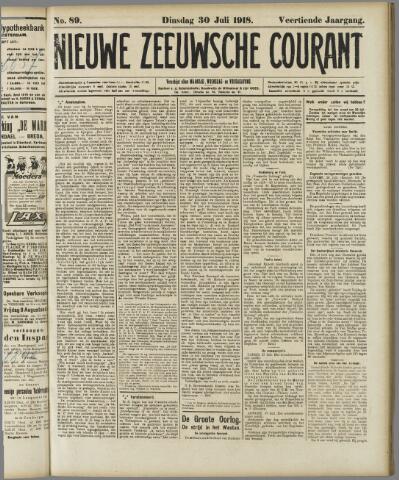 Nieuwe Zeeuwsche Courant 1918-07-30