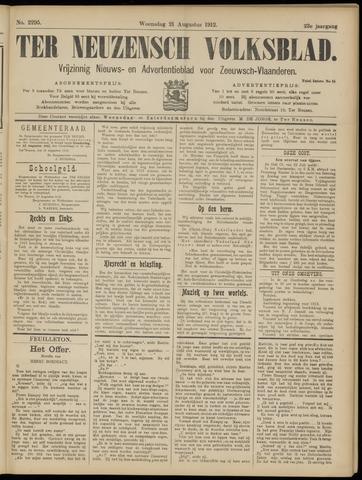 Ter Neuzensch Volksblad. Vrijzinnig nieuws- en advertentieblad voor Zeeuwsch- Vlaanderen / Zeeuwsch Nieuwsblad. Nieuws- en advertentieblad voor Zeeland 1912-08-21