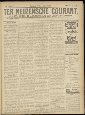 Ter Neuzensche Courant. Algemeen Nieuws- en Advertentieblad voor Zeeuwsch-Vlaanderen / Neuzensche Courant ... (idem) / (Algemeen) nieuws en advertentieblad voor Zeeuwsch-Vlaanderen 1928-11-02