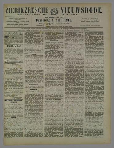 Zierikzeesche Nieuwsbode 1903-04-09