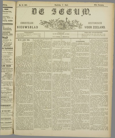 De Zeeuw. Christelijk-historisch nieuwsblad voor Zeeland 1897-04-08