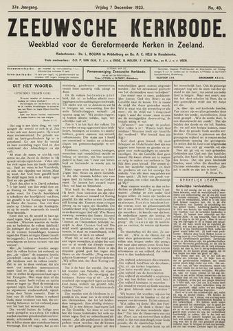 Zeeuwsche kerkbode, weekblad gewijd aan de belangen der gereformeerde kerken/ Zeeuwsch kerkblad 1923-12-07