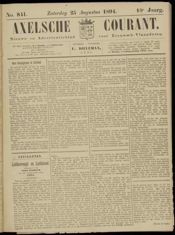 Axelsche Courant 1894-08-25