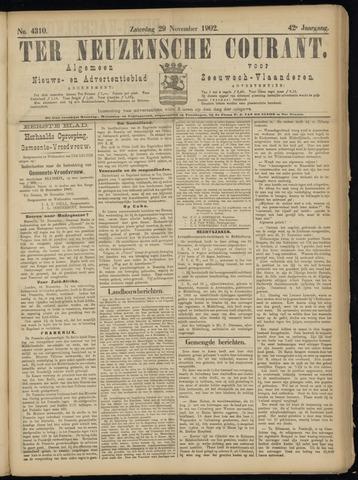 Ter Neuzensche Courant. Algemeen Nieuws- en Advertentieblad voor Zeeuwsch-Vlaanderen / Neuzensche Courant ... (idem) / (Algemeen) nieuws en advertentieblad voor Zeeuwsch-Vlaanderen 1902-11-29