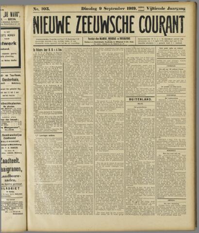 Nieuwe Zeeuwsche Courant 1919-09-09
