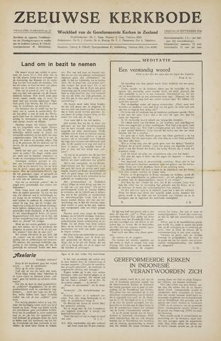 Zeeuwsche kerkbode, weekblad gewijd aan de belangen der gereformeerde kerken/ Zeeuwsch kerkblad 1956-09-14