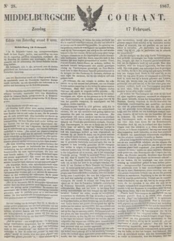 Middelburgsche Courant 1867-02-17