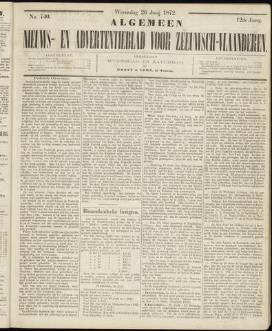 Ter Neuzensche Courant. Algemeen Nieuws- en Advertentieblad voor Zeeuwsch-Vlaanderen / Neuzensche Courant ... (idem) / (Algemeen) nieuws en advertentieblad voor Zeeuwsch-Vlaanderen 1872-06-26