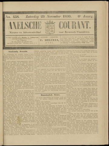 Axelsche Courant 1890-11-29