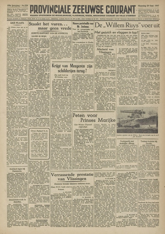 Provinciale Zeeuwse Courant 1947-09-29