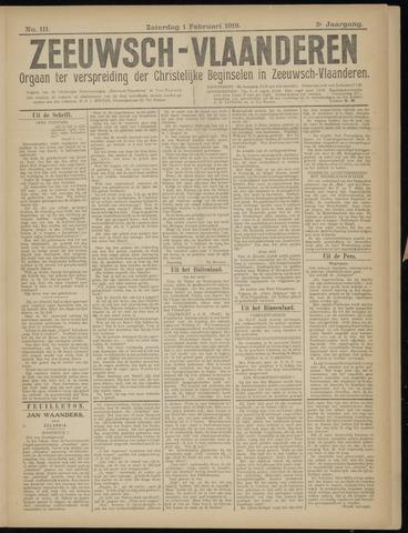 Luctor et Emergo. Antirevolutionair nieuws- en advertentieblad voor Zeeland / Zeeuwsch-Vlaanderen. Orgaan ter verspreiding van de christelijke beginselen in Zeeuwsch-Vlaanderen 1919-02-01