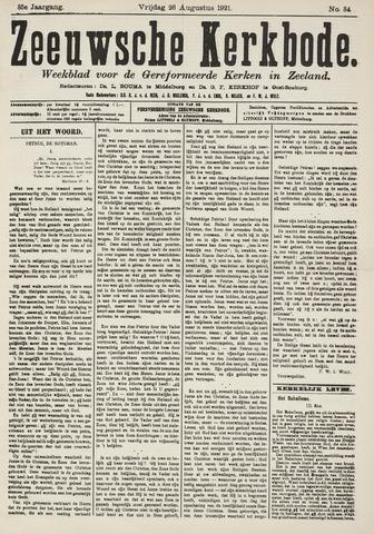Zeeuwsche kerkbode, weekblad gewijd aan de belangen der gereformeerde kerken/ Zeeuwsch kerkblad 1921-08-26
