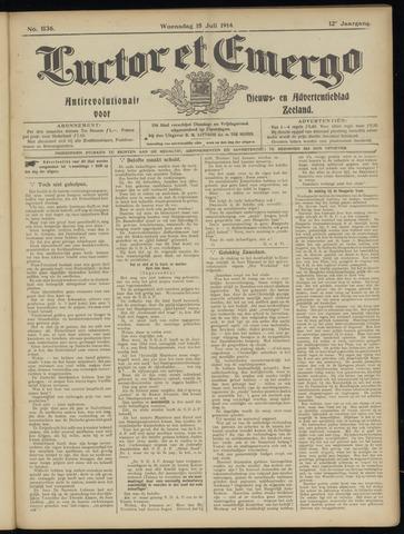 Luctor et Emergo. Antirevolutionair nieuws- en advertentieblad voor Zeeland / Zeeuwsch-Vlaanderen. Orgaan ter verspreiding van de christelijke beginselen in Zeeuwsch-Vlaanderen 1914-07-15