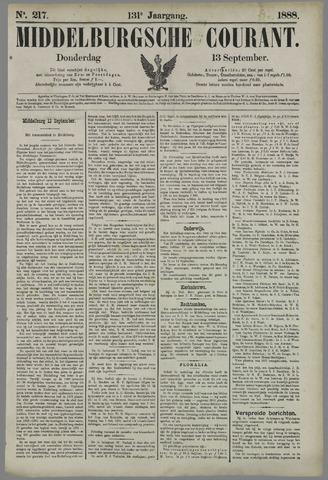Middelburgsche Courant 1888-09-13
