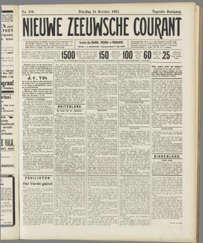 Nieuwe Zeeuwsche Courant 1913-10-14