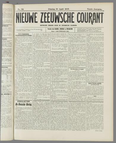 Nieuwe Zeeuwsche Courant 1908-04-28