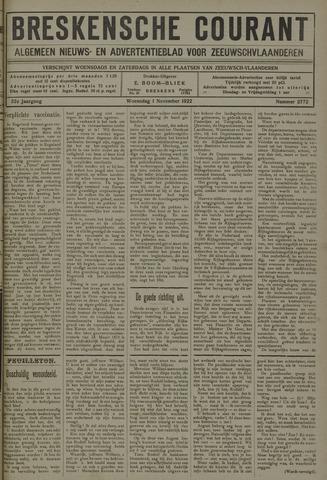 Breskensche Courant 1922-11-01