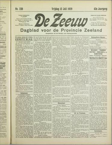 De Zeeuw. Christelijk-historisch nieuwsblad voor Zeeland 1929-07-12