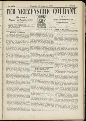 Ter Neuzensche Courant. Algemeen Nieuws- en Advertentieblad voor Zeeuwsch-Vlaanderen / Neuzensche Courant ... (idem) / (Algemeen) nieuws en advertentieblad voor Zeeuwsch-Vlaanderen 1878-08-28