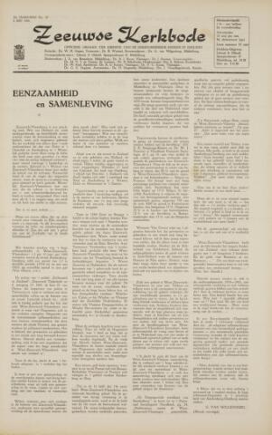 Zeeuwsche kerkbode, weekblad gewijd aan de belangen der gereformeerde kerken/ Zeeuwsch kerkblad 1966-05-06