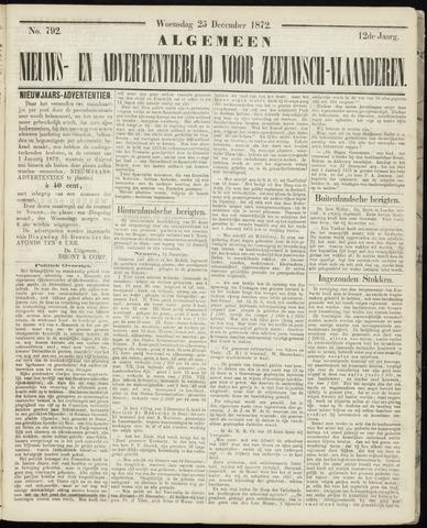Ter Neuzensche Courant. Algemeen Nieuws- en Advertentieblad voor Zeeuwsch-Vlaanderen / Neuzensche Courant ... (idem) / (Algemeen) nieuws en advertentieblad voor Zeeuwsch-Vlaanderen 1872-12-25