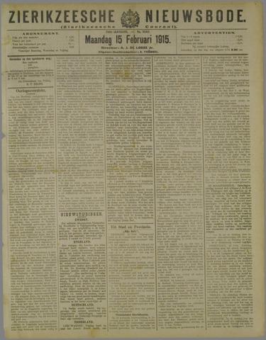 Zierikzeesche Nieuwsbode 1915-02-15