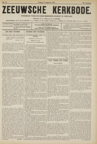 Zeeuwsche kerkbode, weekblad gewijd aan de belangen der gereformeerde kerken/ Zeeuwsch kerkblad 1940-08-23