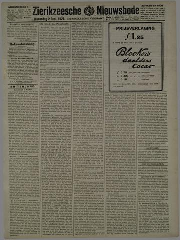 Zierikzeesche Nieuwsbode 1925-09-02