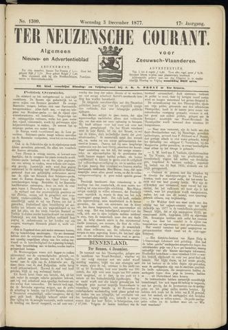 Ter Neuzensche Courant. Algemeen Nieuws- en Advertentieblad voor Zeeuwsch-Vlaanderen / Neuzensche Courant ... (idem) / (Algemeen) nieuws en advertentieblad voor Zeeuwsch-Vlaanderen 1877-12-05