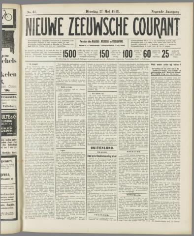 Nieuwe Zeeuwsche Courant 1913-05-27