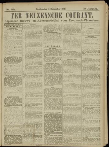 Ter Neuzensche Courant. Algemeen Nieuws- en Advertentieblad voor Zeeuwsch-Vlaanderen / Neuzensche Courant ... (idem) / (Algemeen) nieuws en advertentieblad voor Zeeuwsch-Vlaanderen 1919-12-04