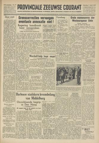 Provinciale Zeeuwse Courant 1949-04-02