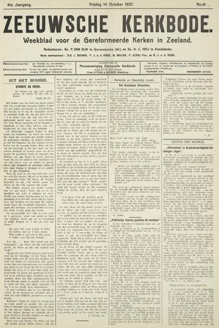 Zeeuwsche kerkbode, weekblad gewijd aan de belangen der gereformeerde kerken/ Zeeuwsch kerkblad 1927-10-14