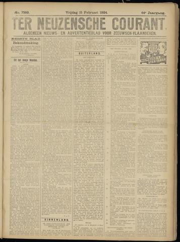 Ter Neuzensche Courant. Algemeen Nieuws- en Advertentieblad voor Zeeuwsch-Vlaanderen / Neuzensche Courant ... (idem) / (Algemeen) nieuws en advertentieblad voor Zeeuwsch-Vlaanderen 1924-02-15
