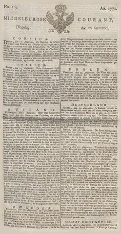 Middelburgsche Courant 1771-09-10