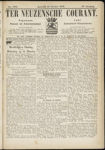 Ter Neuzensche Courant. Algemeen Nieuws- en Advertentieblad voor Zeeuwsch-Vlaanderen / Neuzensche Courant ... (idem) / (Algemeen) nieuws en advertentieblad voor Zeeuwsch-Vlaanderen 1879-10-25