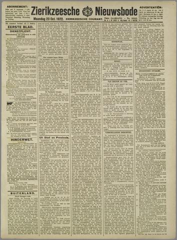 Zierikzeesche Nieuwsbode 1922-10-23