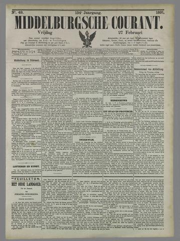 Middelburgsche Courant 1891-02-27