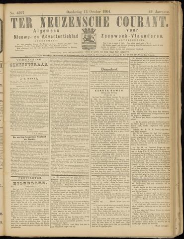 Ter Neuzensche Courant. Algemeen Nieuws- en Advertentieblad voor Zeeuwsch-Vlaanderen / Neuzensche Courant ... (idem) / (Algemeen) nieuws en advertentieblad voor Zeeuwsch-Vlaanderen 1904-10-13