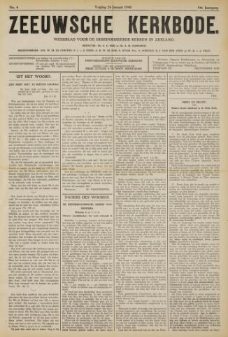 Zeeuwsche kerkbode, weekblad gewijd aan de belangen der gereformeerde kerken/ Zeeuwsch kerkblad 1940-01-26