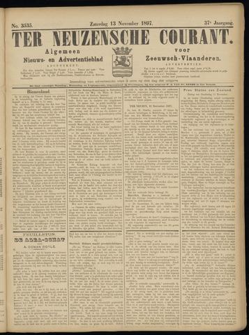 Ter Neuzensche Courant. Algemeen Nieuws- en Advertentieblad voor Zeeuwsch-Vlaanderen / Neuzensche Courant ... (idem) / (Algemeen) nieuws en advertentieblad voor Zeeuwsch-Vlaanderen 1897-11-13