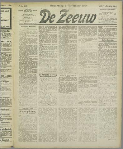 De Zeeuw. Christelijk-historisch nieuwsblad voor Zeeland 1918-11-07